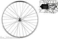 "Sun CR18 26"" REAR Mt Bike Wheel Silver Shimano RM30 Hub DT SS Spoke 8 9 10 speed"