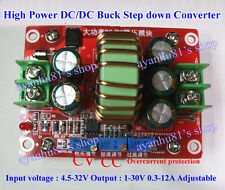 150W 12A DC-DC CV CC Buck Converter 4.5-32V 24V to 12V 19V 1-30V Step Down Power