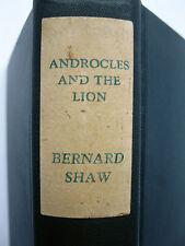 George Bernard Shaw ANDROCLES and LION,  PYGMALION Bretano's NY 1916 hard cover