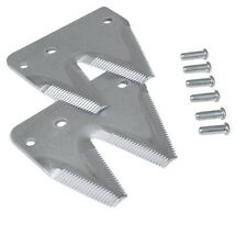 2 Sickle Mower End Sections w/rivets, #712-730K  Topserrated-right hand.  2USPK