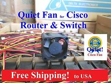 Quiet Version Replacement fan for Cisco C3560-24PS/48PS C3750-24PS/48PS 18dBA