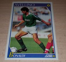 CARD SCORE 1992 AVELLINO BONALDI CALCIO FOOTBALL SOCCER ALBUM