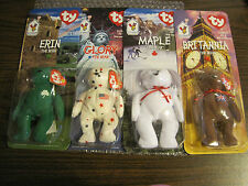 SET OF 4 MCDONALD'S TY BEANIE BABY BEARS---FOR BOYS AND GIRLS
