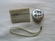 Sony ICD-V21 Handheld Digital Voice Recorder, with instruction book