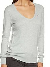 Tommy Hilfiger Womens Hayley V Neck Grey XL Jumper Knitwear Ladies Sale Free P+P