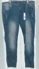 ROCAWEAR Womens Relaxed, Cotton Blend, Blue, Plus Size Jeans 22W, 32 Inseam