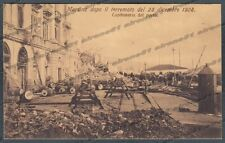 MESSINA CITTÀ 108 TERREMOTO 1908 - PORTO Cartolina