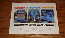 1965 Ford Tractor 2000 3000 4000 5000 6000 Series Sales Brochure 65