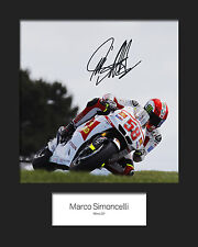 MARCO SIMONCELLI #2 Signed 10x8 Mounted Photo Print - FREE DELIVERY