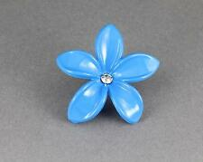 Aqua plumeria hair clip hawaiian flower barrette alligator claw clamp