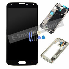 LCD Display Screen Touch Digitizer + Frame For Samsung Galaxy S5 G900F Black