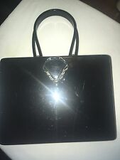 Vintage Acrylic Lucite Wilardy Black Box Purse