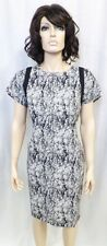 Authentic Rachel Roy Square Shoulder Black & White Print Dress Sz. 12 NWT $398