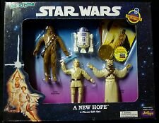 Just Toys Bend-ems Star Wars 4 Piece Figure Gift Set + Brass Coin + Cards 1994