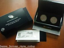 2013 W SILVER EAGLE ENHANCED & REVERSE PROOF WEST POINT 2 COIN SET WITH BOX/COA