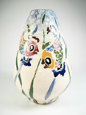 Vintage Studio Pottery Vase - Hand Painted - Unsigned - Mid 20th Century