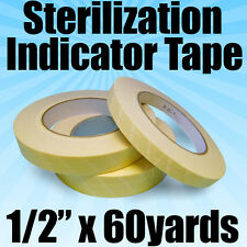 "Starryshine 1/2"" x 60 yds Autoclave Sterilization Indicator Tape Tattoo Dental"