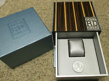 New ROGER DUBUIS Easy Diver Series Watch & Chronograph Wood Case Gift Box Set