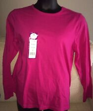 BOBBIE BROOKS Womans Plus Size 1X 16-18 Long Sleeve Round Neck Tee Top Shirt