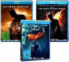 BATMAN BEGINS / THE DARK KNIGHT / THE DARK KNIGHT RISES auf insgesamt 5 BLU RAYs