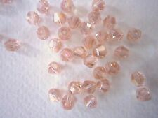 100 Austrian Crystal Glass Bicone Bead Jewellery Making/Tiara -Pale Pink AB -4mm