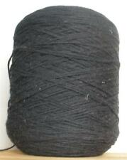 COTTON 4/4 - 850 YPP MEDIUM/WORSTED WEIGHT CONE YARN 2 LBS 10 OZS BLACK (C30)