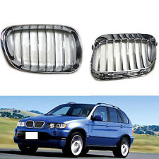 High Quality Chrome For BMW X5/E53 1999-2006 Front Grille Grill Refit