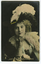 c 1903 American Vaudeville BEAUTIFUL LADY Fashion Theater French photo postcard