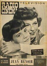 Radio Cinéma n°72 - 1951  - Margaret Sullavan - Jean Renoir - Colin Maillard