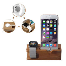 2015 hot Wood For Apple Watch iphone Original Stand Charging Station Bracket*