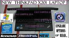 "☀NEW☀ Lenovo x201 THINKPAD business laptop 12.1"" core i5 2.4GHz ➨OPTIONS- READ!"