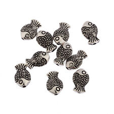 Fish Antique Tibetan Silver spacer Beads charms Findings jewelry making 20pcs