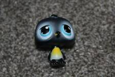 Littlest Pet Shop Black Penguin #389 Blue Eyes LPS Toy Bird Animal RARE Hasbro