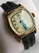 Early Elgin wind-up wrist watch for men, art deco case RARE