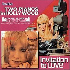 Ronnie Aldrich TWO PIANOS IN HOLLYWOOD & INVITATION TO LOVE - CDLK4241
