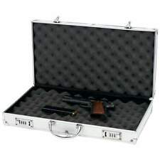 Aluminum New Framed Locking Gun Pistol HandGun Lock Box Hard Storage Carry Case