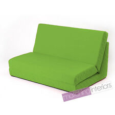 Lime Fold Out Z Bed Double Chair 2 Seat Sofa Guest Bed Mattress Futon Student