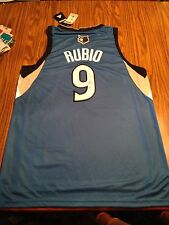 Minnesota Timberwolves Ricky Rubio Signed Autographed Jersey New With Tags
