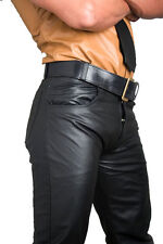 Pantalon cuir gay cuir jeans neuf noir pantalon cuir NEUF leather pants cuir