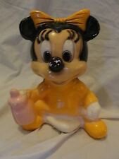 VINTAGE?  PLASTER BABY MINI MOUSE BANK. - CUTE!