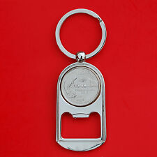 US 2007 Washington State Quarter BU Unc Coin Key Chain Ring Bottle Opener NEW