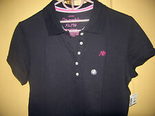 AEROPOSTALE A87 solid pique polo - black , XL