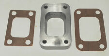 STAINLESS STEEL T3 TO T25 T28 TURBO MANIFOLD FLANGE ADAPTER + 2 COPPER GASKETS