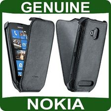 Genuine Nokia LUMIA 610 Mobile LEATHER FLIP CASE cell phone book cover housing