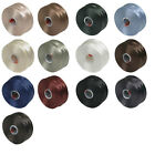 Superlon bead thread size D, S-lon, 2 spools, choice of colour mixes