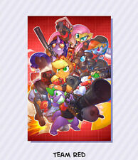 """My Little Pony """"Red Team"""" Team Fortress 2 Wall Scroll by 0r0ch1 w/Metal Poles"""
