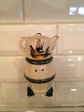 Vintage Ceramic Potbelly Stove And Teapot Salt And Pepper Shakers Japan