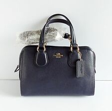 NWT Coach 33735 Nolita Mini Pebble Leather Satchel ~ Navy