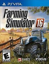Farming Simulator 16. PlayStation Vita. Complete. Rare. Free Shipping.