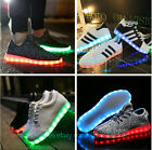 Unisex Adult USB LED Light Lace Up Sports Luminous Striped Sports Shoes Sneaker